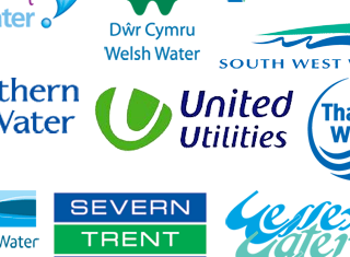 Water company logos as one image montage