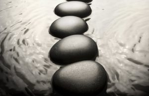 Stepping Stones and Flowing Water.