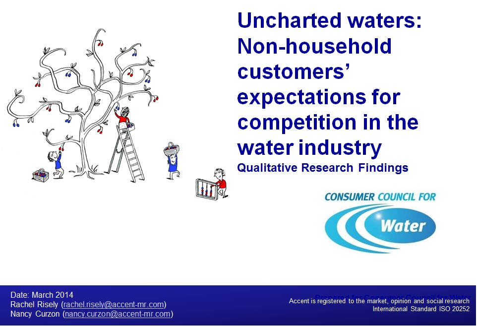 Uncharted Waters: Non-household customers' expectations for competition in the water industry