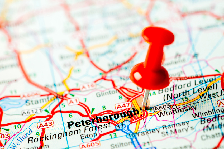 map of peterborough
