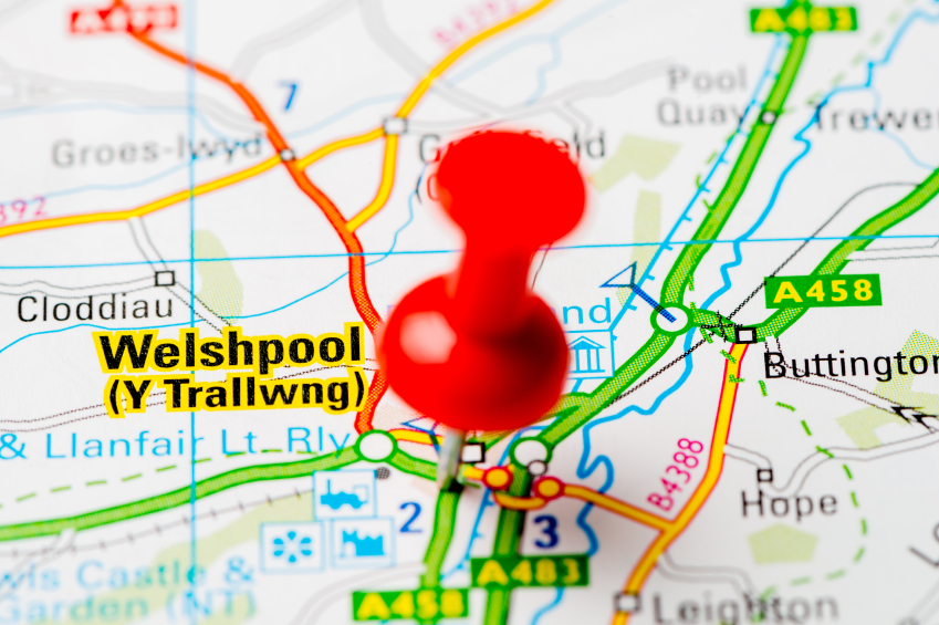 map of Welshpool