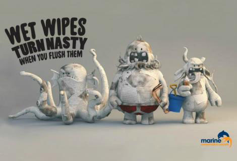 Wet wipes turn nasty