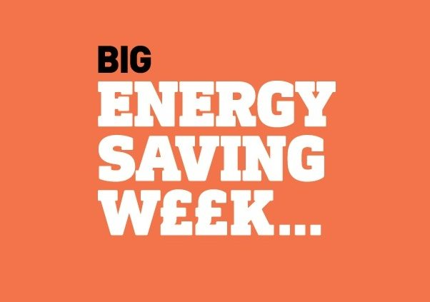 Big Energy Saving Week logo on orange background