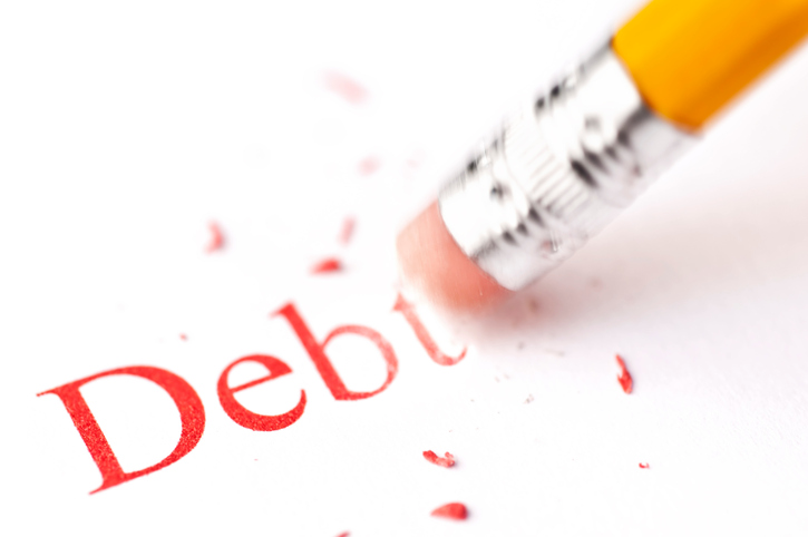 Erasing debt concept - Please see my portfolio for other finance and business concept images.