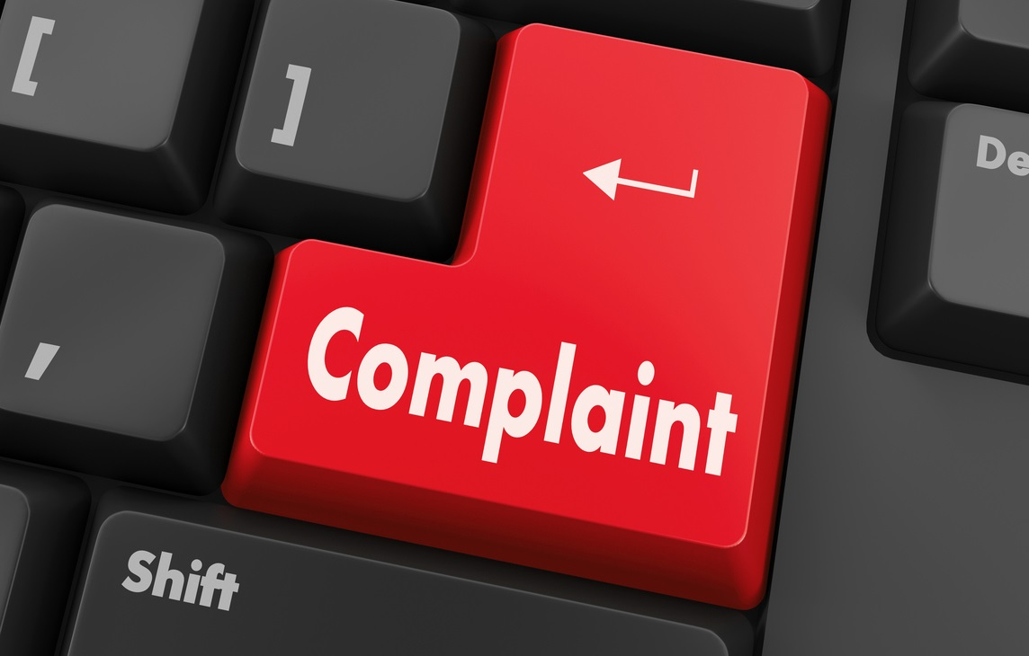 Complaint button keyboard