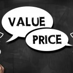 Value and price / Blackboard concept (Click for more)Value and price / Blackboard concept