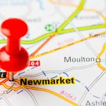 red pin on map - newmarket