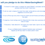 water saving week pledges