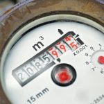 Water meter showing usage