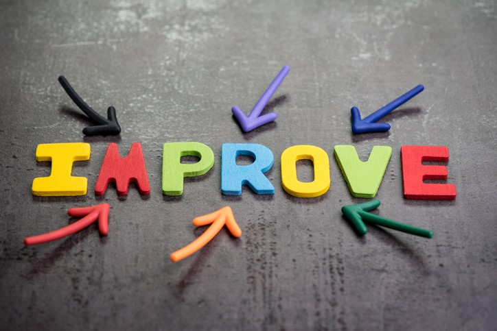 arrows pointing at the word improve
