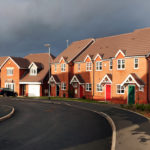 surburbia housing estate panoramic