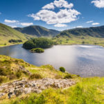 Sunny day at Haweswater reservoir in England