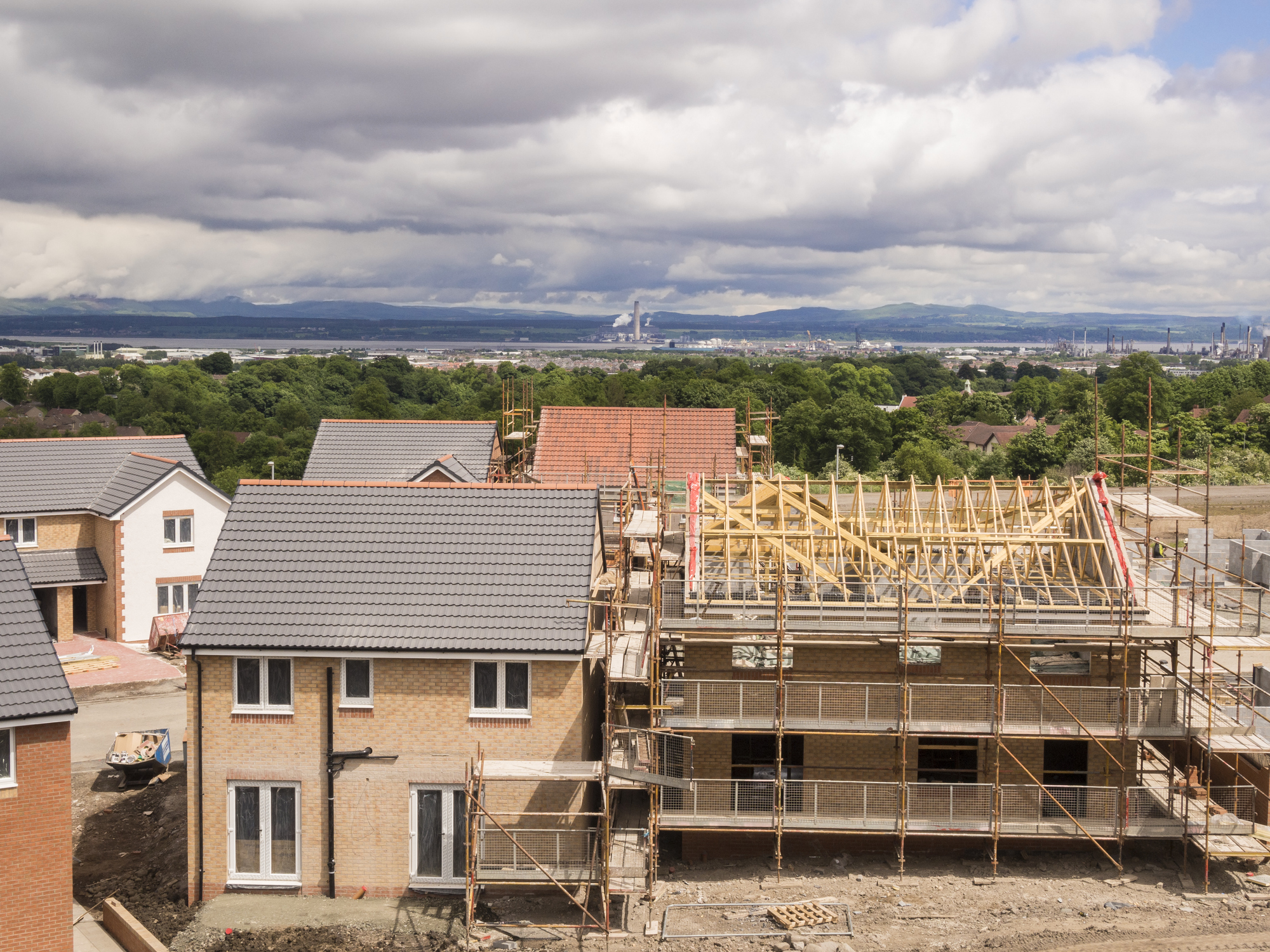 Building site of houses