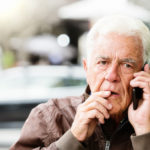 Older man on phone
