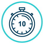stopwatch icon showing ten days