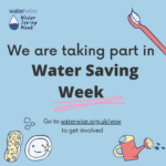waterwise illustration saying that we are taking part in water saving week