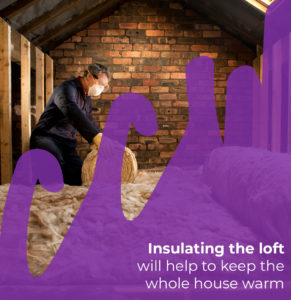 insulating the log will help to keep the whole house warm