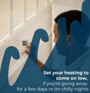 set your heating to come on low if you're going away for a few days or on chilly nights