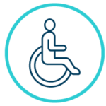 icon of a disabled person